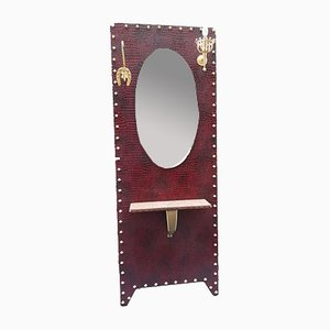 Vintage Illuminated Hall Stand with Mirror, 1970s