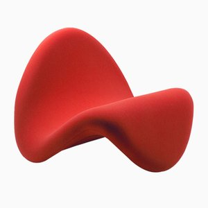 Vintage Red Tongue Chair by Pierre Paulin for Artifort
