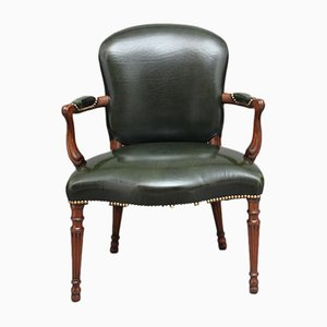 Antique Open Mahogany Armchair, 1830s