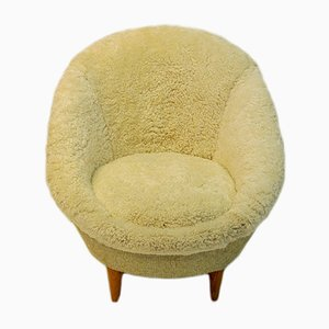 Norwegian Florida Sheepskin Easy Chair from Vatne Møbler, 1954