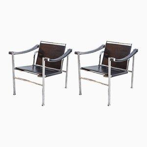 Chaises LC-1 par Le Corbusier, 1950s, Set de 2