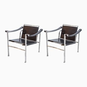 LC-1 Chairs by Le Corbusier, 1950s, Set of 2