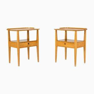 Birch Bedside Tables from Nordiska Kompaniet, 1950s, Set of 2