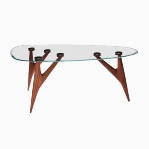 Mittelgroßer Ted Tisch mit Glasplatte von BNE für Greyge