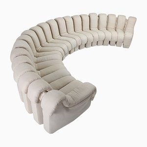 Beige DS 600 Non Stop Snake Sofa from de Sede, 1970s