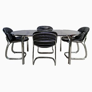 Italian Table & 4 Sabrina Chairs by Gastone Rinaldi for Rima, 1970s