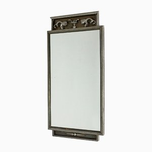 Art Deco Pewter Wall Mirror by Nils Fougstedt for Svenskt Tenn, 1930s