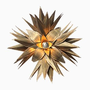 Star Shaped Palm Tree Brass Sconce from Maison Jansen, 1970s