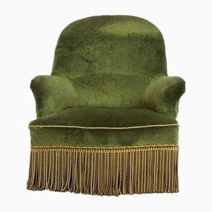 Vintage Green Velvet Toad Armchair