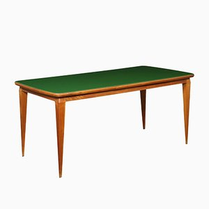 Italian Beech and Glass Dining Table, 1950s
