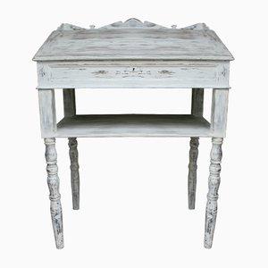 Antikes weiß gestrichenes Stehpult