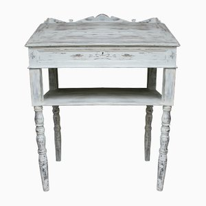 Antique White-Painted Lectern