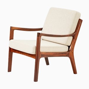 Senator Rosewood Lounge Chair by Ole Wanscher for France & Søn, 1960s