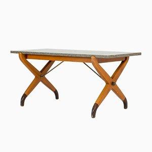 Tavolino da caffè in pietra calcarea di David Rosén per Nordiska Kompaniet, anni '50