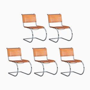 Chaises Cantilever MR10 par Mies van der Rohe pour Thonet, 1980s, Set de 5