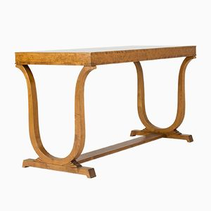 Birch Library Table by Carl Malmsten for Nordiska Kompaniet, 1920s