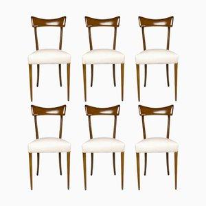 Italienische Mid-Century Esszimmerstühle, 1950er, 6er Set