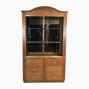 Mueble de almacenamiento vintage de roble, años 30