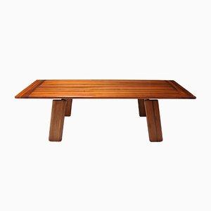 Tavolo da pranzo postmoderno in legno di noce di Afra & Tobia Scarpa, anni '80