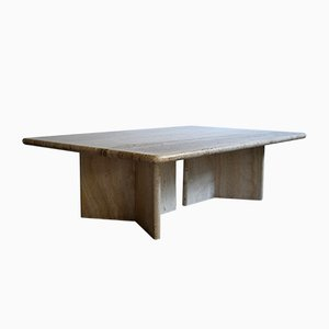 Mid-Century Travertine Coffee Table, 1975
