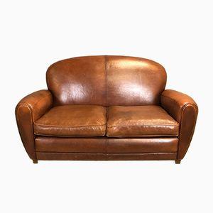 Vintage Leather Club Sofa, 1970s