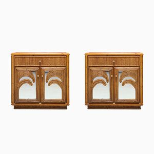 Hollywood Regency Style Tropical Nightstands from Vivai del Sud, 1970s, Set of 2