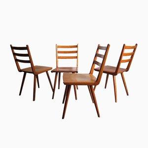 Sedie da pranzo Boomerang vintage, set di 4