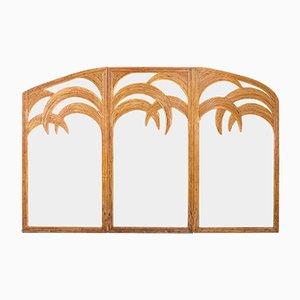 Triptych Standspiegel mit Bambusrahmen von Vivai del Sud