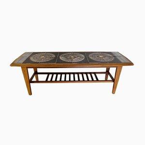 Dänischer Tisch mit Gestell aus Palisander & Fliesenplatte, 1950er
