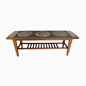 Danish Tiles and Rosewood Table, 1950s