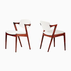 Model 42 Rosewood Dining Chairs by Kai Kristiansen for Skovmand & Andersen, 1956, Set of 8