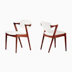 Modell 42 Esszimmerstühle aus Palisander von Kai Kristiansen für Skovmand & Andersen, 1956, 8er Set