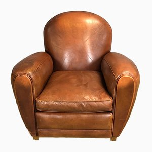 Leather Club Chair, 1970s