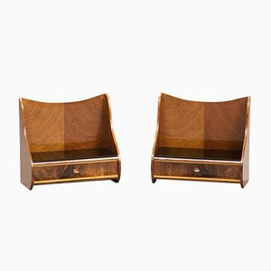 Danish Mid-Century Bedside Tables, 1950s, Set of 2