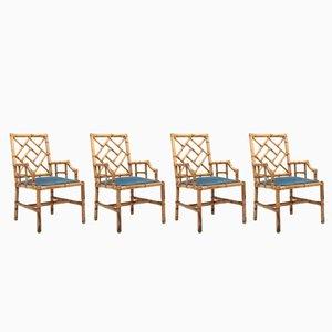 Esszimmerstühle aus Bambus von Vivai Del Sud, 1970er, 4er Set