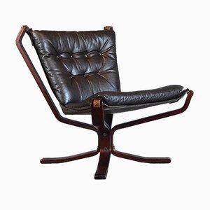 Chaise à Dossier Bas Falcon Vintage par Sigurd Ressell pour Vatne Møbler, 1960s