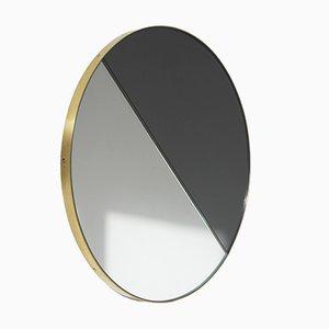 Très Grand Miroir Dualis Orbis avec Cadre en Laiton par Alguacil & Perkoff Ltd.