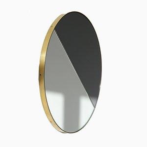 Espejo Orbis Mixed Tint Dualis grande con marco de latón de Alguacil & Perkoff Ltd.