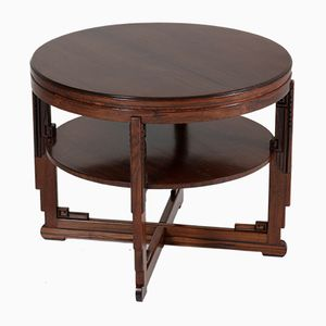 Art Deco Amsterdam School Rosewood Coffee Table by Max Coini, 1920s