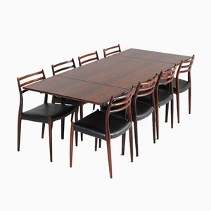 Mid-Century Rosewood Dining Room Set by Niels O. Møller for J.L. Møllers, 1954
