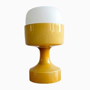 Lámpara de mesa vintage de vidrio de Ivan Jakeš para Valašské Meziříčí Factory, años 70
