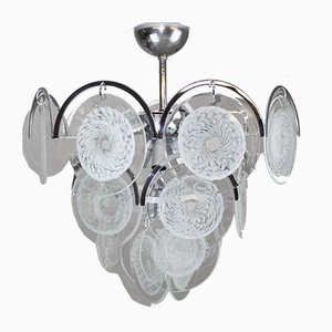 Lámpara de araña de cristal de Murano de Vistosi, años 60