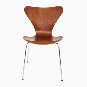 Model 3107 Teak Chair by Arne Jacobsen for Fritz Hansen, 1970s