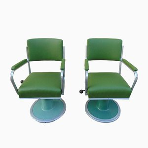 Mid-Century Industrial Barber's Swivel Chairs, 1950s, Set of 2