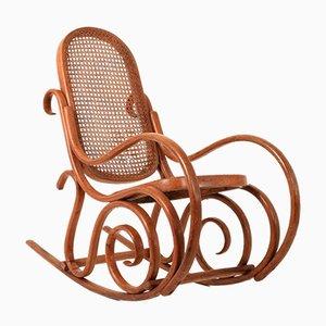 Rocking Chair pour Enfant en Bois Courbé, 1930s