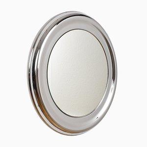 Vintage Round Steel Mirror, 1960s