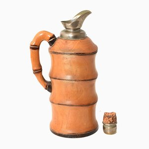 Bamboo Thermos by Aldo Tura for Macabo, 1950s