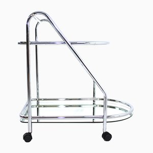 Chrome & Glass Serving Bar Cart, 1970s