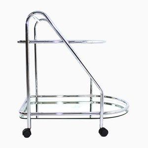 Chrome & Glass Serving Bar Cart, 1970s