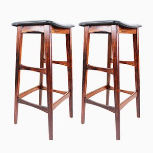Danish Rosewood Bar Stools, 1960s, Set of 2